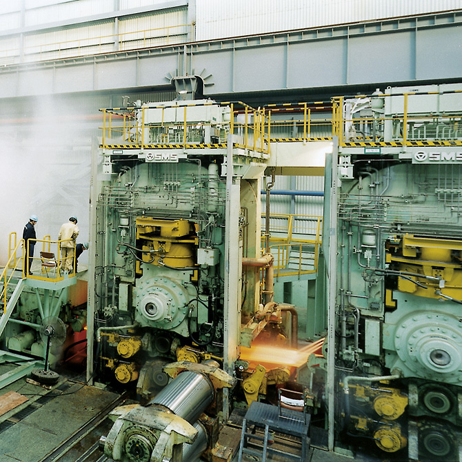 Extraction of vapour on a steel rolling mill