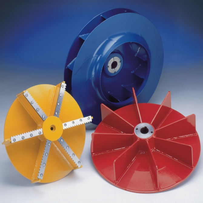 Material transport fans