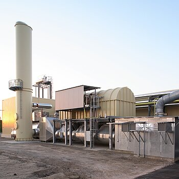 Regenerative solvent oxidizing system for derived timber product coating plant