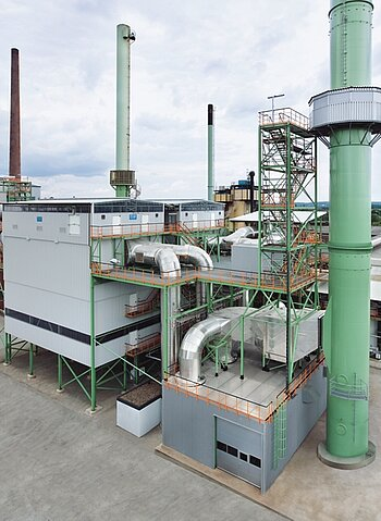 Filter plant for anode furnace and the auxiliary hoods