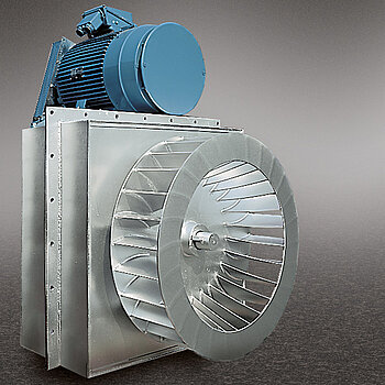 Circulation blower, operates at temperatures of up to 1000 °C
