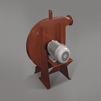High-pressure fan HV-M with direct motor drive