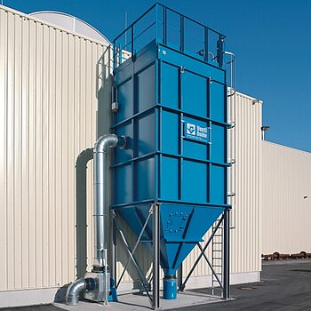 "Filter plant with ""Jet"" cleaning for flame cutting fumes"